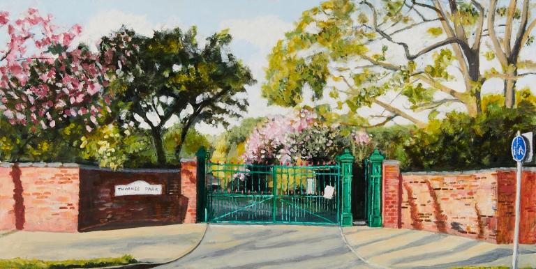21 Monday 20th April - The gates at Thornes Park Nursery