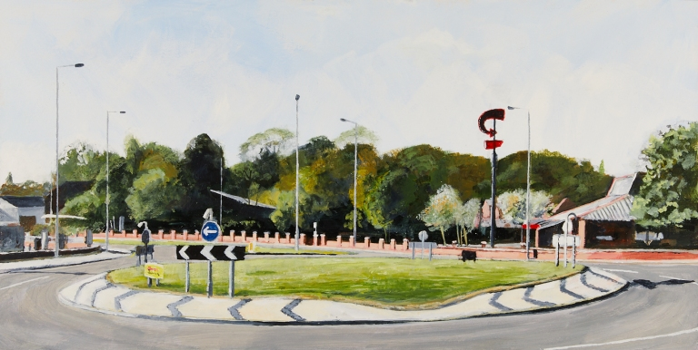 23 Wednesday 22nd April - Roundabout on Charlesworth Way