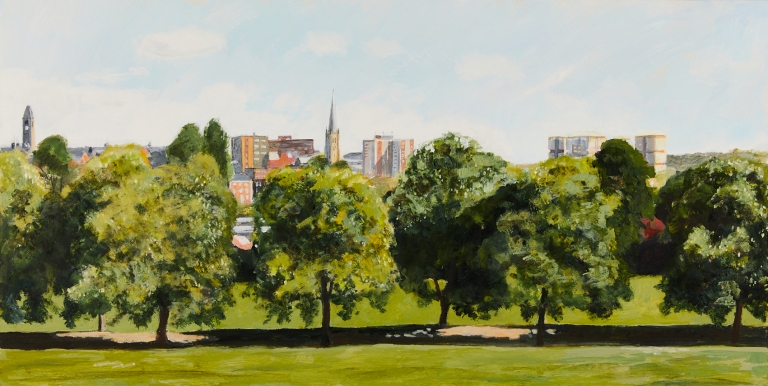 25 Monday 27th April - Looking over Clarence Park Arena towards the City Centre