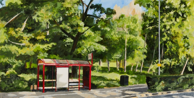 29 - Tuesday 5th May - Bus stop in Denby Dale Road next to Holmfield Park