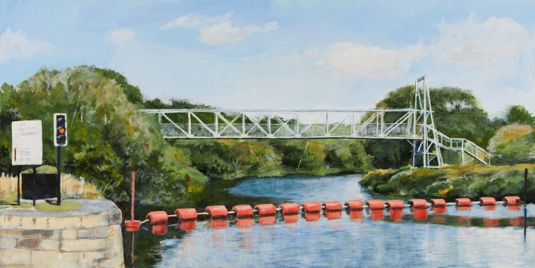 32 Monday 11th May - The Blue Bridge over the River Calder