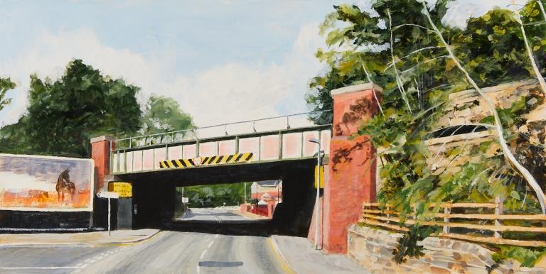 34 - Wednesday 13th May - Railway bridge over Thornes Lane looking towards Holmfield Park
